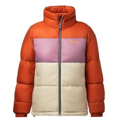 Cotopaxi Women's Solazo Colorblock Puff Down Jacket Cayenne/plum - Small Nwt