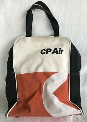 Vintage Cp Air Airline Zippered Tote Bowling Bag Fly Airplane Aviation Flight