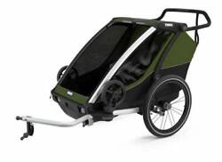 New - Thule Chariot Cab 2 - Bike Trailer For 2 Kids - Free Int Shipping