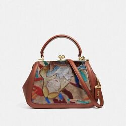 Sealed Coach Disney X Frame Bag 23 With Embroidered Alice In Wonderland - 69114