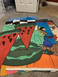 Lot Of 15 Decorative Yard Flags - Large-all Seasonal And Holidays