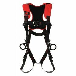 3m Protecta 1161442 Full Body Harness, Vest Style, 3xl, Polyester, Black