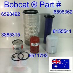 Air Cleaner Fuel Engine Hydraulic Oil Filter Service Kit Fits Bobcat 641 731 741