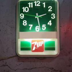 Vintage 7up Neon Clock Pubst Blue Ribbon Mooneyes From Japan Used A568