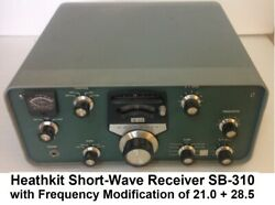 Heathkit Short Wave Receiver Sb-310 With Modification Frequency Of 21.0 And 28.5