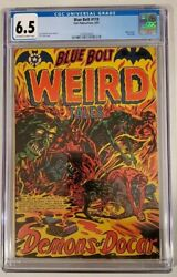 Blue Bolt 119 Cgc 6.5 Ow/w Star Publications 1953 L.b.cole Cover Last Issue