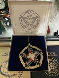 1999 Texas State Capitol Christmas Ornament- Lone Star State Mib