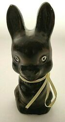 2005 Vaillancourt Folk Art Chalkware Easter Bunny Rabbit 4.75 Signed And Dated