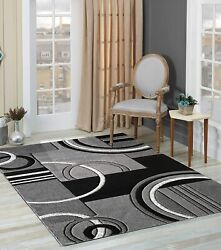 Glory Rugs Area Rug Modern 5x7 Turquoise Soft Hand Carved Contemporary Floor Car