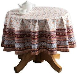 Maison Dand039 Hermine Equinoxe 100 Cotton Tablecloth For Kitchen Dining   Tabletop