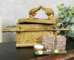 Matte Gold Ark Of The Covenant Model With Contents Figurine Decorative Box 110