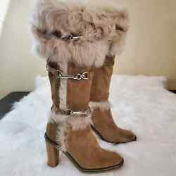 Limited Edition Coach Jessica Sz 6 Fur Suede Boots
