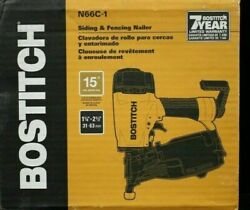 Bostitch N66c-1 Coil Siding And Fencing Nailer 1-1/4 To 2-1/2 15-degree New