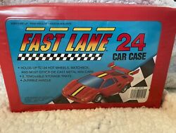 1990 Fast Lane 24 Collectors Carrying Case Red Toys R Us 15 Car Lot Rare Nascar
