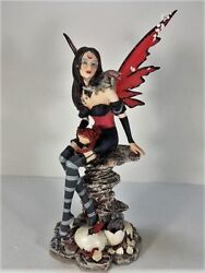 91321 Red Fairy With Baby Dagon Collectible Figurine By Backwoods Lighting Llc.