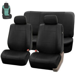 Black Pu Leather Car Seat Covers Auto Car Suv Van With Free Air Freshener