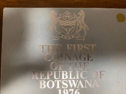 1976 Botswana Uncirculated 6 Coins Mint Proof Set In Original Pack
