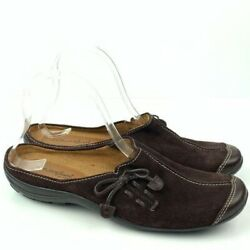 Natural Soul By Naturalizer Womens Flats Fanner Size 8.5 Brown Suede Mules