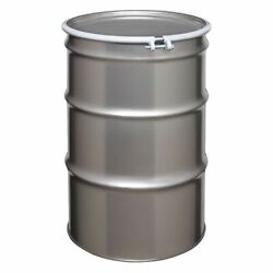 Zoro Select St5507 Open Head Transport Drum 304 Stainless Steel 55 Gal