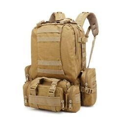Tactical Molle Army Backpack 4 In 1 Sport Camping Hiking Backpack Rucksack