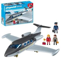 Playmobil 5619 Private Jet W/figures Pilot Plane Small Airplane Aircraft Toy Fly