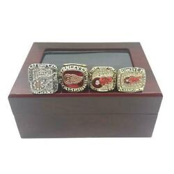Detroit Red Wings Nhl 4 Rings Set Championship Ring Set Gift 2021 With Box