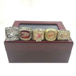Detroit Red Wings Nhl 5 Rings Set Championship Ring Set Gift 2021 With Box