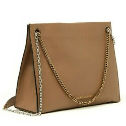 Marc Jacobs Double Link 34 Women#x27;s Leather Chain Shoulder Bag Handbag Cappuccino $299.99