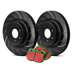 For Dodge Dart 13-16 Ebc Stage 10 Super Sport Dimpled And Slotted Rear Brake Kit