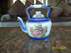 Empire Ware England Over Sized Vintage Tea Pot Courting Couple Made In Portugal