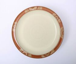 Set Of 5 Denby Fire Chilli Swirl Salad Plates 9 - Lot Of 5 - Excellent