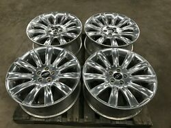 09-16 Lincoln Mks 20and039and039 Polished Wheel Factory Oem Wheel Rim Set Of 4 Lot3117