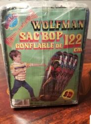 Wolfman Classic Movie Monster 3d 48 Inflatable Bop Bag Rare Vtg 80's Toy ❤