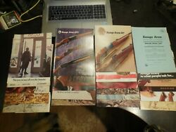 21 Savage Arms Catalogs 1960and039s To Early And03980s W/price List And Extras