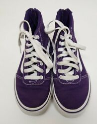 Vans Off The Wall High Top Shoes Purple Missy Sz 1.5
