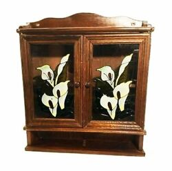 Vintage Wall Cabinet. Wall Shelf With Doors. Calla Lilies. Spice Rack.