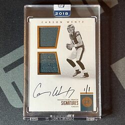 2016 Encased Carson Wentz 2018 Honors Dual Swatch Rpa Rookie Patch Auto 1/1 One