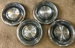 Set Of Four 1968 1969 Cadillac 15 Hubcaps