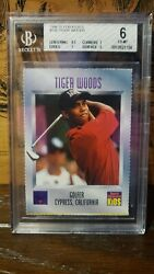 1996 Sports Illustrated For Kids Series 3 Golf 536 Tiger Woods Rc Bgs 6 Ex-mt