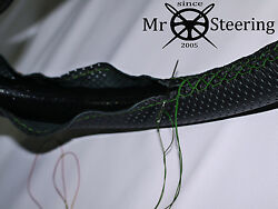 Perforated Leather Steering Wheel Cover Green Double Stt For Truck Volvo Vnl 670