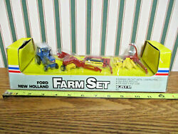 Ford Tw-35 With New Holland Baler/haybine/forage Harvester By Ertl 1/64th Scale