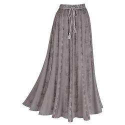 Catalog Classics Womenand039s Peasant Maxi Skirt Over-dyed Floral Embroidered Rayon