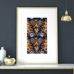 Abstract Bohemian Wall Art Bohemian Wall Art Ikat Wall Decor Poster No Frame