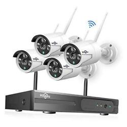 [8ch Expandable] 1080p Wireless Security Camera System With One-way Audio