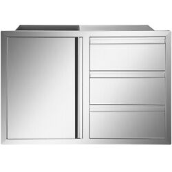 Outdoor Door And Drawer Combo 41.3x28 In Outdoor Kitchen Component Bbq Grill