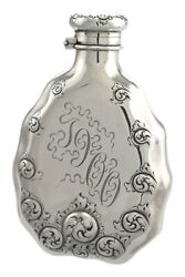 Antique - Solid Sterling Silver - Hip Flask - And Co