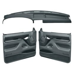 For Ford F-150 92-96 Dash Cover And Door Panels Combo Kit Slate Gray Dash Cover