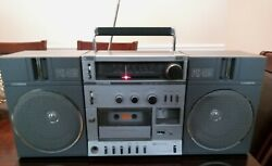 Fisher Ph415 Stereo Boombox Removable Speakers Ac/dc Am/fm Radio Tape Deck Works
