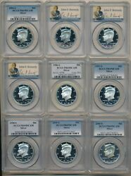1992-2019 Proof Silver Kennedy Half Dollars-28 Coins-all Pcgs Pr69dcam-free S/h