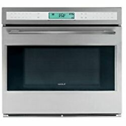Wolf E Series So302fs 30 Stainless S Single Electric Wall Oven 4.5 Cu. Ft. Dual